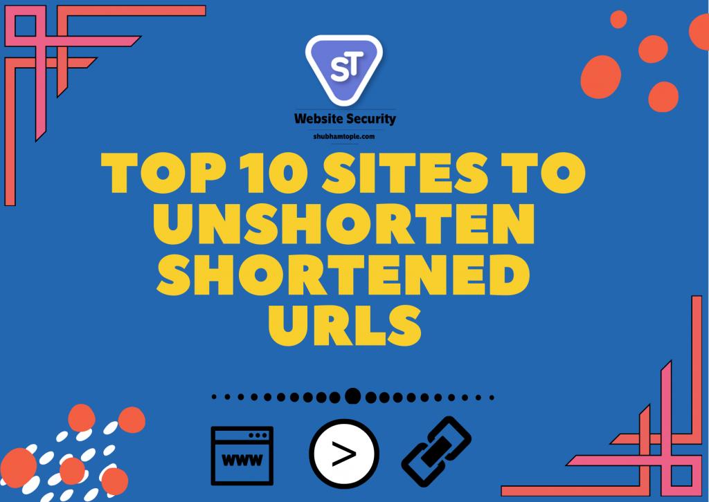 Unshorten Shortened URLs